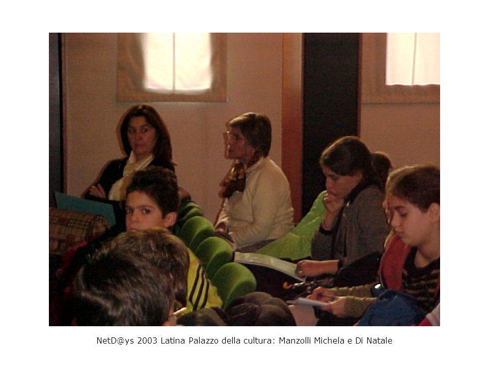 NetD@ys 2003 Latina Palazzo della cultura: Manzolli Michela e Di Natale