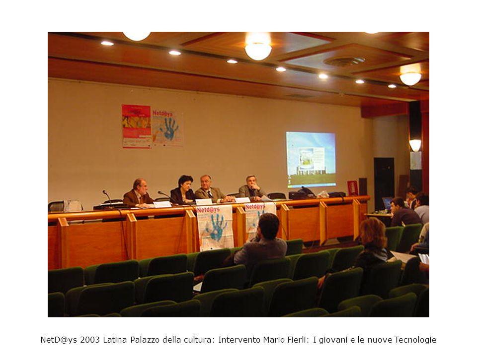 NetD@ys 2003 Latina Palazzo della cultura: Linda Giannini e Claudio Castelli