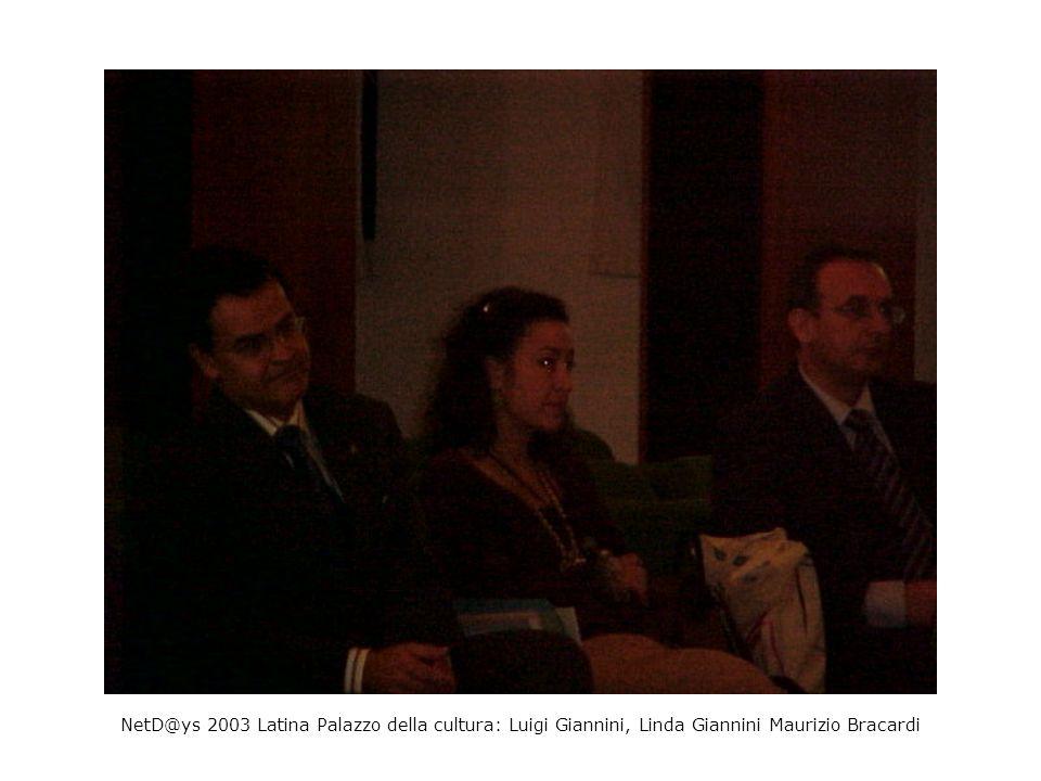 NetD@ys 2003 Latina Palazzo della cultura: Luigi Giannini, Linda Giannini Maurizio Bracardi