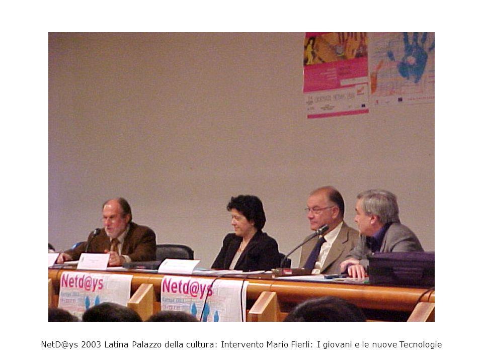 NetD@ys 2003 Latina Palazzo della cultura: Intervento Emilia Carotenuto Fileuro e La Terra Gialla