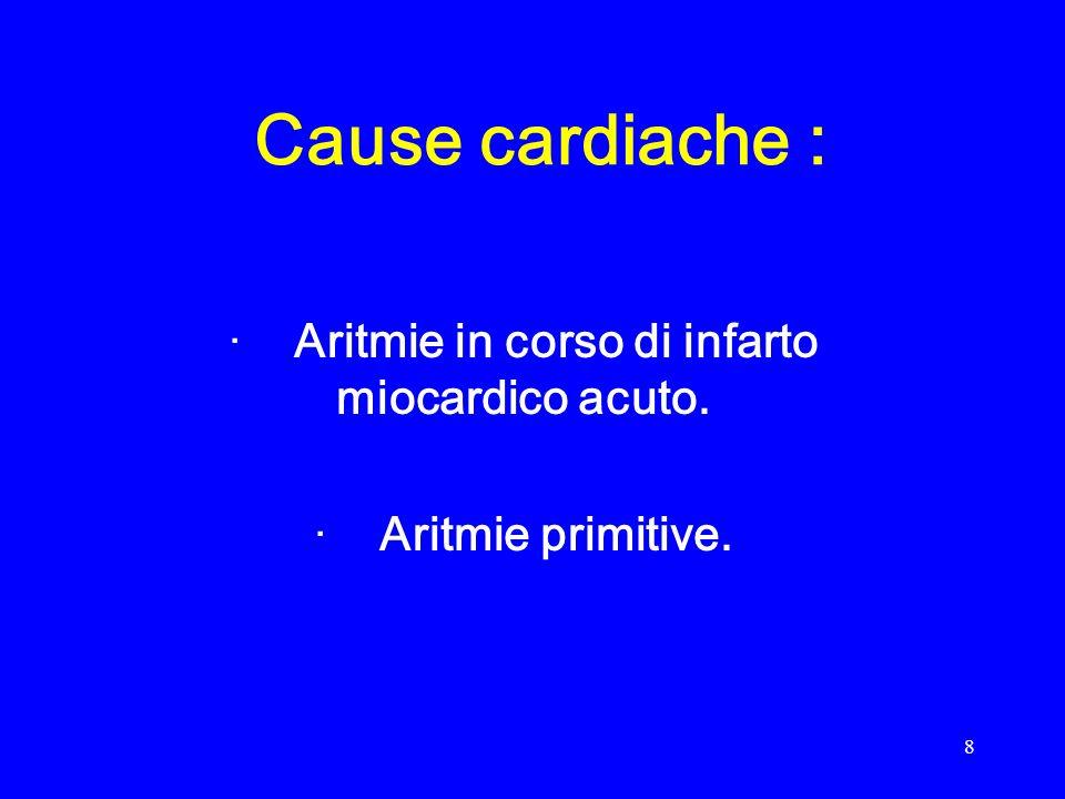 9 Cause extra – cardiache : · meccaniche : rottura di cuore, traumi gravi, emorragie imponenti, embolia polmonare massiva.