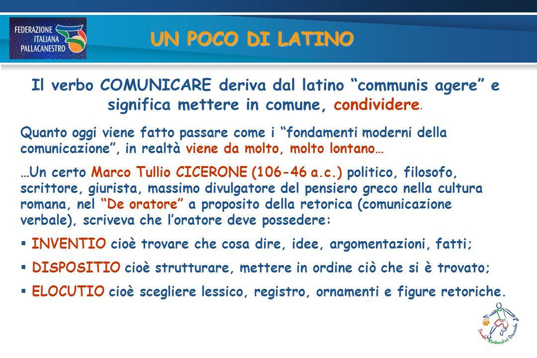 Il verbo COMUNICARE deriva dal latino communis agere e significa mettere in comune, condividere.