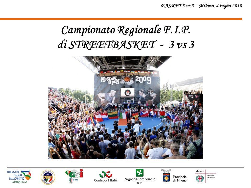 BASKET 3 vs 3 – Milano, 4 luglio 2010 Campionato Regionale F.I.P. di STREETBASKET - 3 vs 3