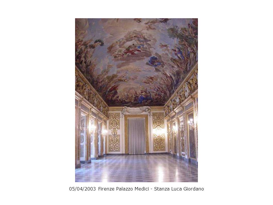 05/04/2003 Firenze Palazzo Medici - Stanza Luca Giordano