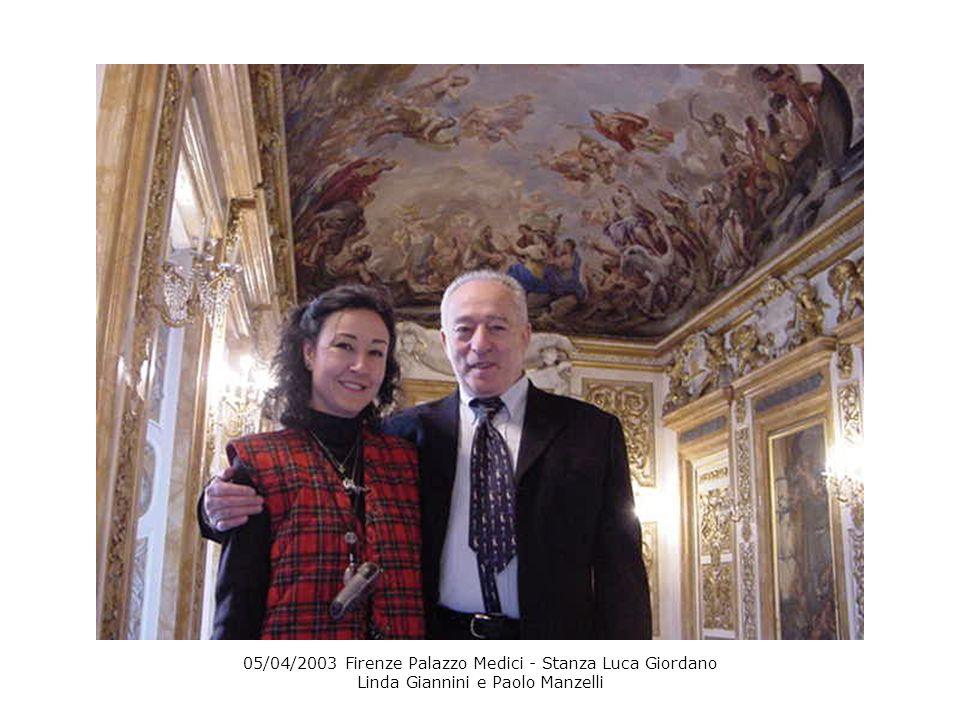 05/04/2003 Firenze Palazzo Medici - Stanza Luca Giordano Linda Giannini e Paolo Manzelli