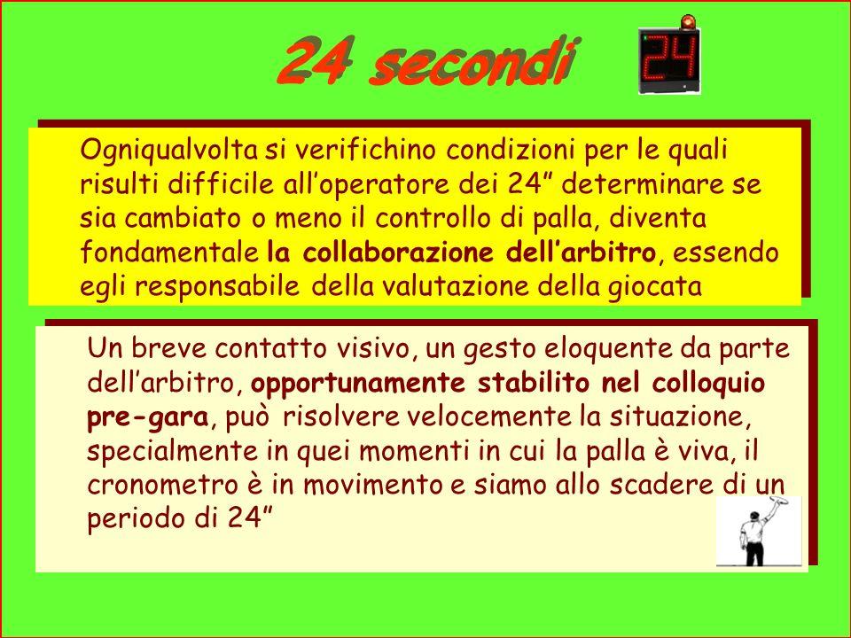 24 secondi Ogniqualvolta si verifichino condizioni per le quali risulti difficile alloperatore dei 24 determinare se sia cambiato o meno il controllo