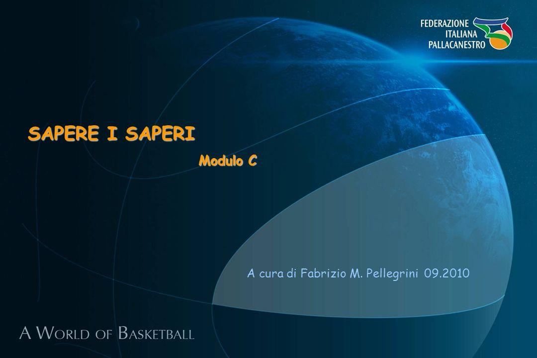 A cura di Fabrizio M. Pellegrini 09.2010 SAPERE I SAPERI Modulo C