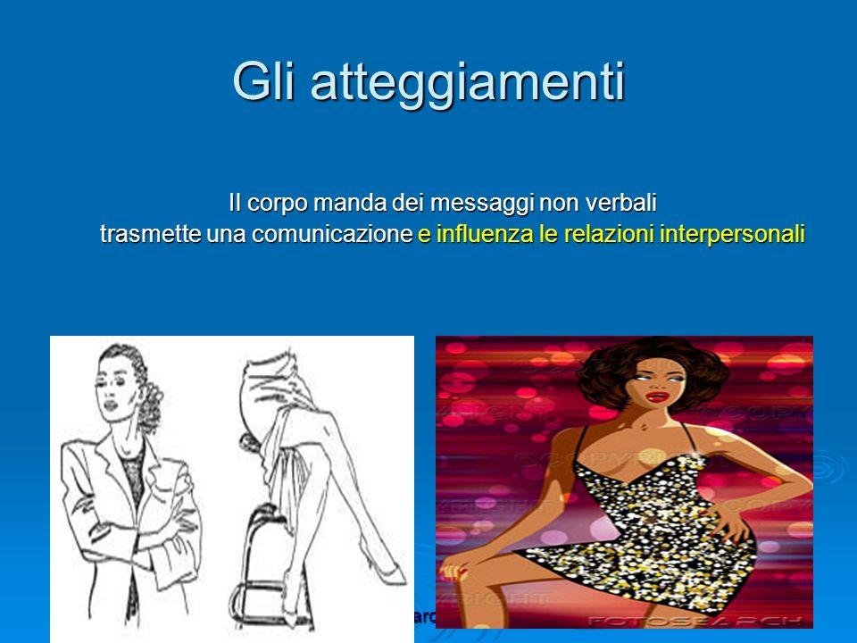 umbro@marcaccioli.com Gli atteggiamenti Il corpo manda dei messaggi non verbali trasmette una comunicazione e influenza le relazioni interpersonali tr