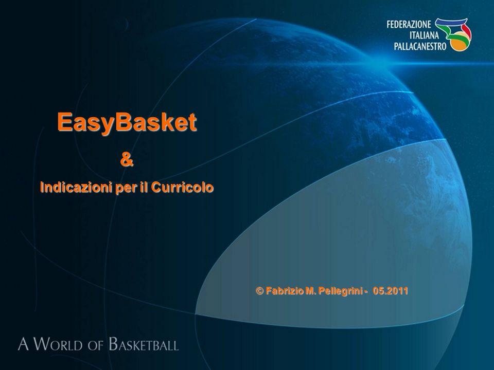 EasyBasket& Indicazioni per il Curricolo © Fabrizio M. Pellegrini - 05.2011