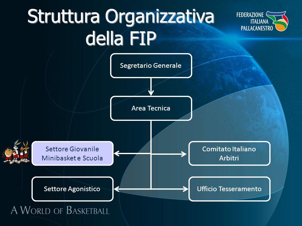 Segretario Generale Area Tecnica Settore Giovanile Minibasket e Scuola Comitato Italiano Arbitri Ufficio TesseramentoSettore Agonistico