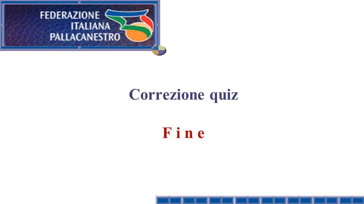 Correzione quiz F i n e