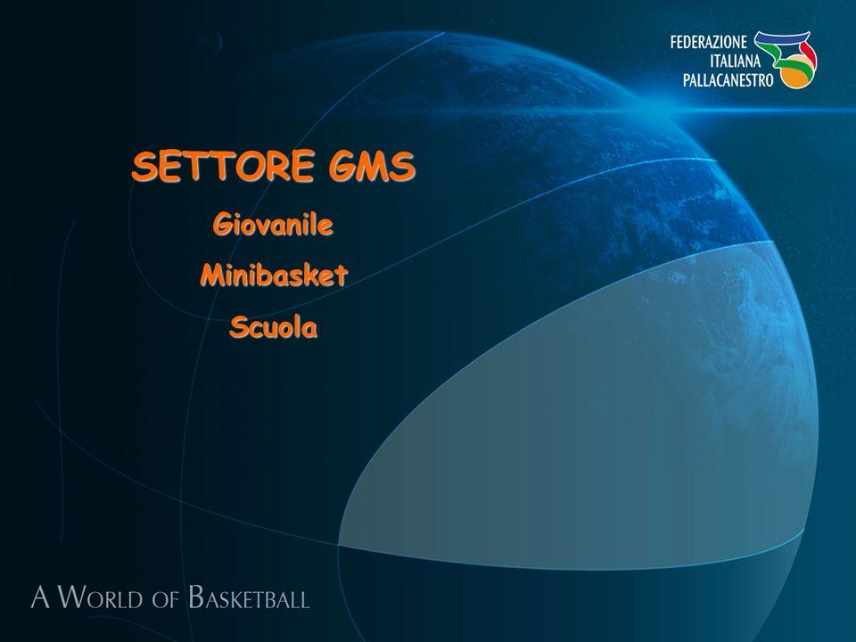 SETTORE GMS GiovanileMinibasketScuola