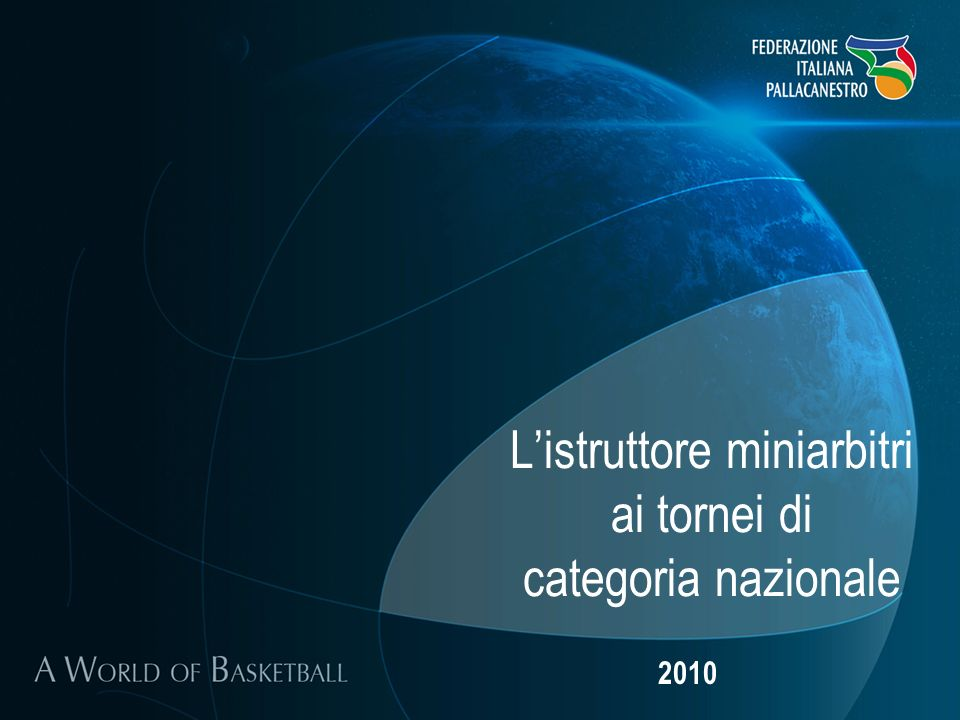 Listruttore miniarbitri ai tornei di categoria nazionale 2010