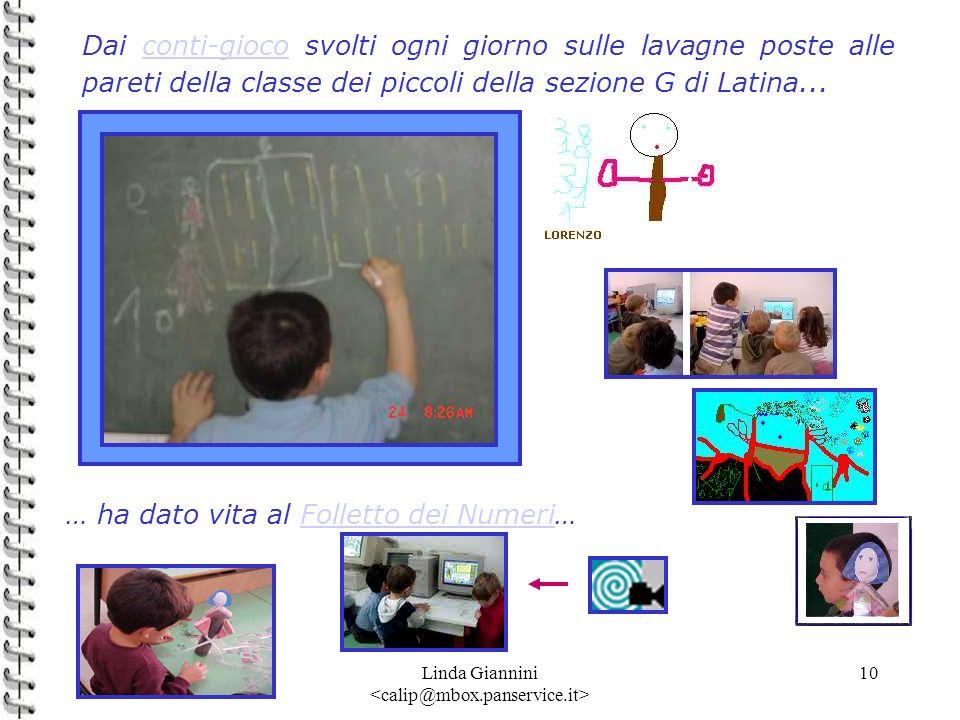 Linda Giannini 10 Dai conti-gioco svolti ogni giorno sulle lavagne poste alle pareti della classe dei piccoli della sezione G di Latina...conti-gioco
