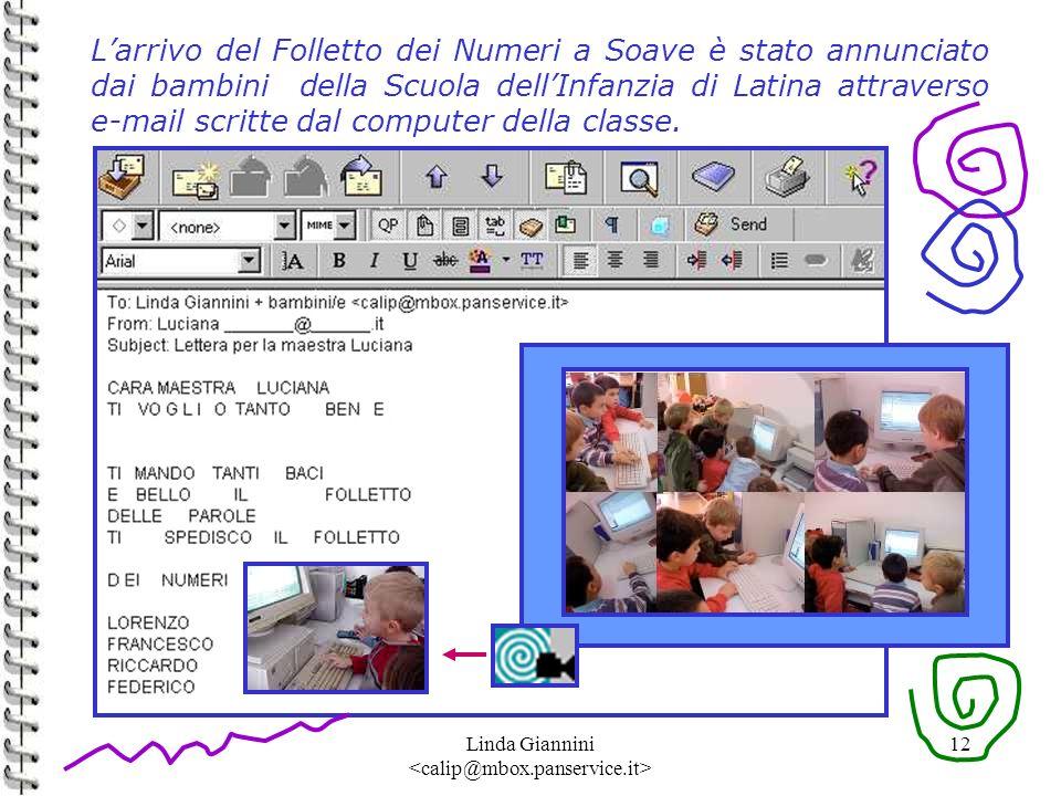 Linda Giannini 12 Larrivo del Folletto dei Numeri a Soave è stato annunciato dai bambini della Scuola dellInfanzia di Latina attraverso e-mail scritte