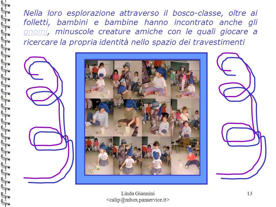 Linda Giannini 13 Nella loro esplorazione attraverso il bosco-classe, oltre ai folletti, bambini e bambine hanno incontrato anche gli gnomi, minuscole