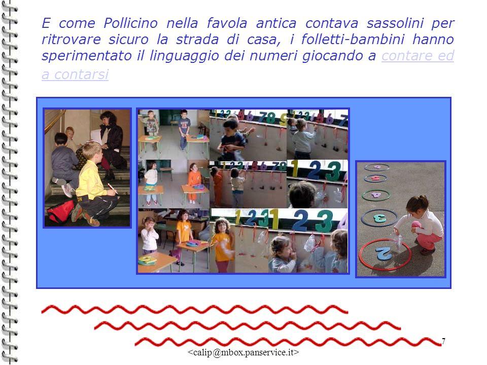 Linda Giannini 17 E come Pollicino nella favola antica contava sassolini per ritrovare sicuro la strada di casa, i folletti-bambini hanno sperimentato