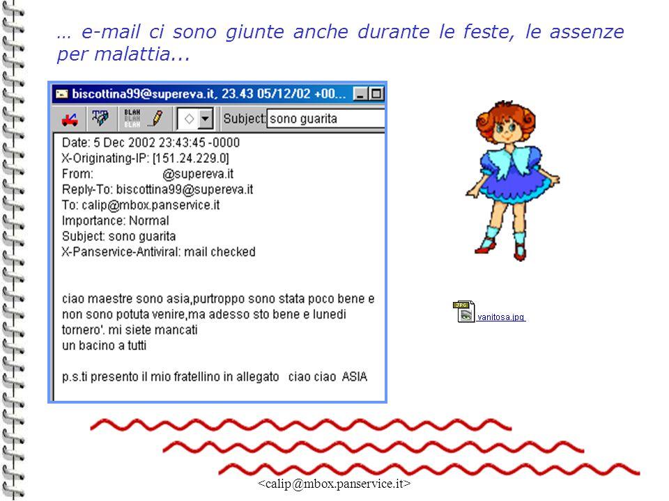 Linda Giannini 19 … e-mail ci sono giunte anche durante le feste, le assenze per malattia...