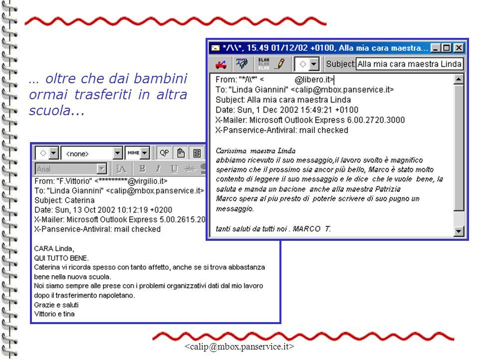 Linda Giannini 20 … oltre che dai bambini ormai trasferiti in altra scuola...