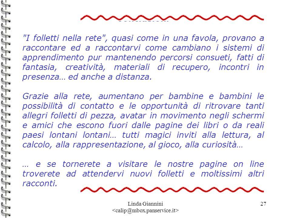 Linda Giannini 27 Conclusioni