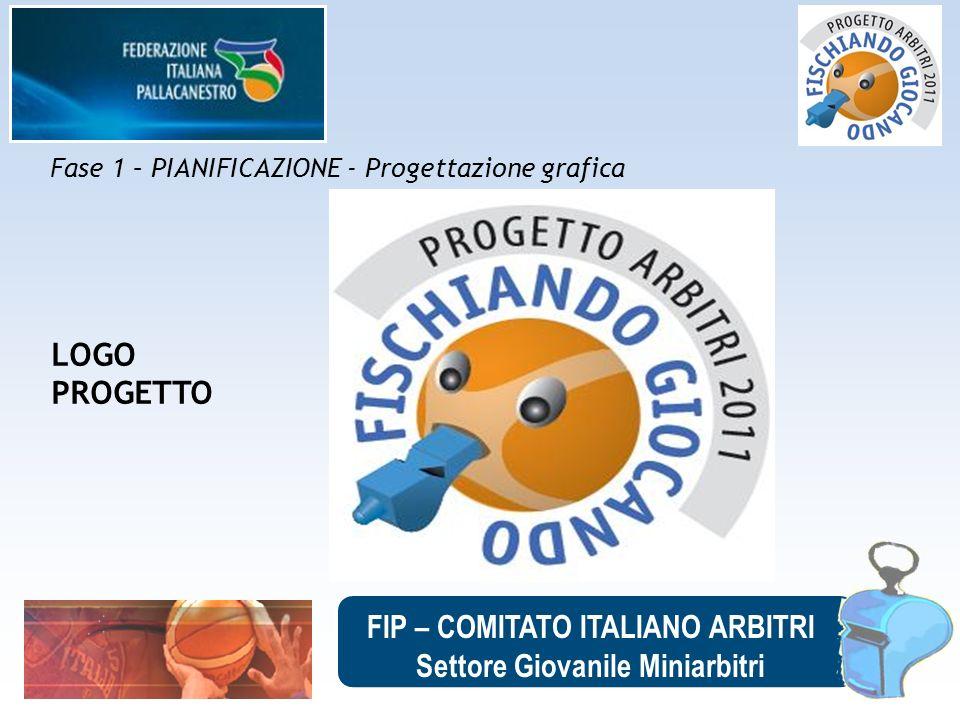 FIP – COMITATO ITALIANO ARBITRI Settore Giovanile Miniarbitri Fase 1 – PIANIFICAZIONE - Progettazione grafica LOGO PROGETTO