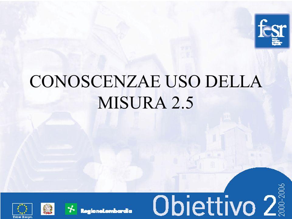 CONOSCENZAE USO DELLA MISURA 2.5