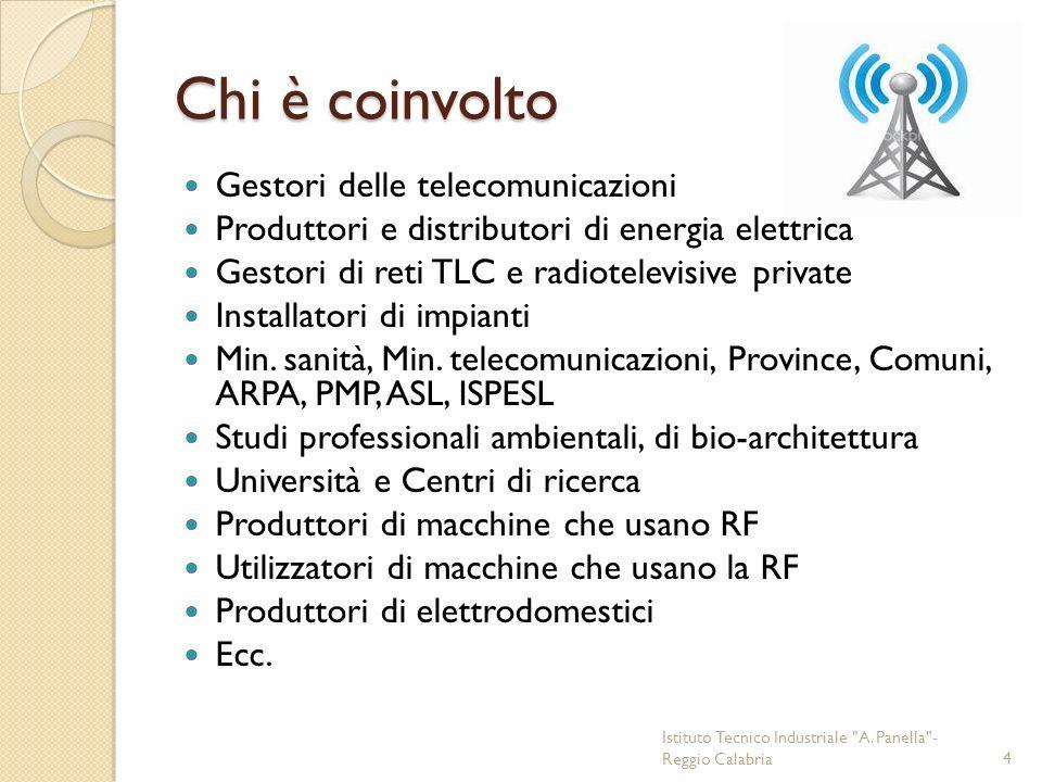 Chi è coinvolto Gestori delle telecomunicazioni Produttori e distributori di energia elettrica Gestori di reti TLC e radiotelevisive private Installat
