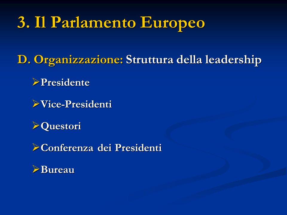 3. Il Parlamento Europeo D.