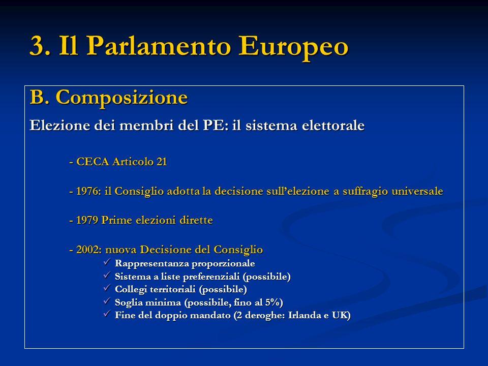 3. Il Parlamento Europeo B.