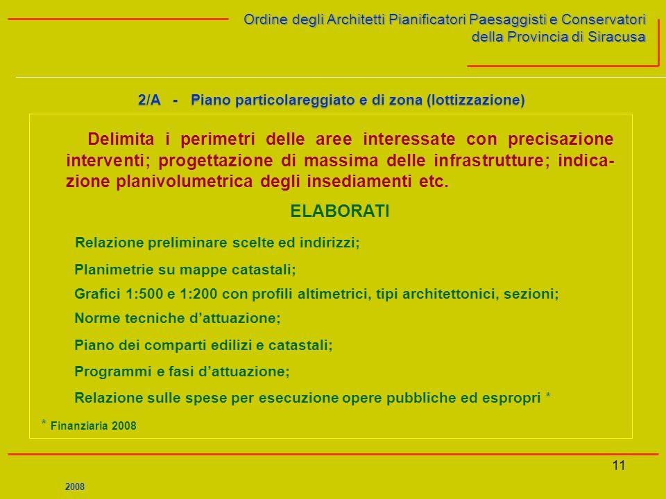 11 Ordine degli Architetti Pianificatori Paesaggisti e Conservatori della Provincia di Siracusa Ordine degli Architetti Pianificatori Paesaggisti e Co