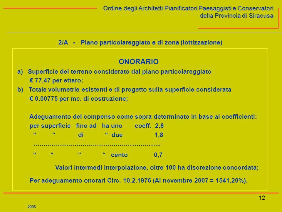 12 Ordine degli Architetti Pianificatori Paesaggisti e Conservatori della Provincia di Siracusa Ordine degli Architetti Pianificatori Paesaggisti e Co