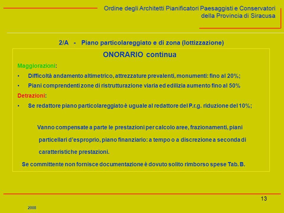 13 Ordine degli Architetti Pianificatori Paesaggisti e Conservatori della Provincia di Siracusa Ordine degli Architetti Pianificatori Paesaggisti e Co