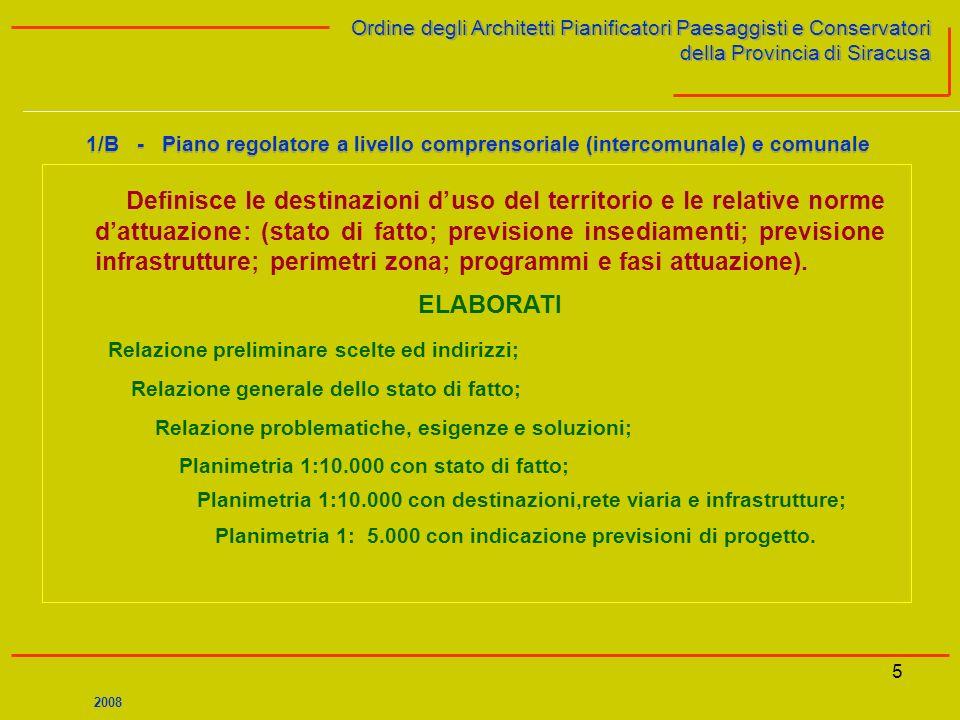 5 Ordine degli Architetti Pianificatori Paesaggisti e Conservatori della Provincia di Siracusa Ordine degli Architetti Pianificatori Paesaggisti e Con