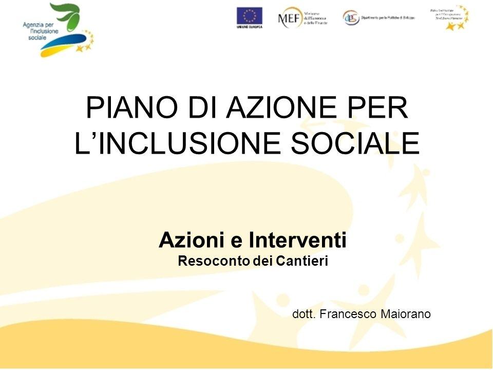 PIANO DI AZIONE PER LINCLUSIONE SOCIALE dott.