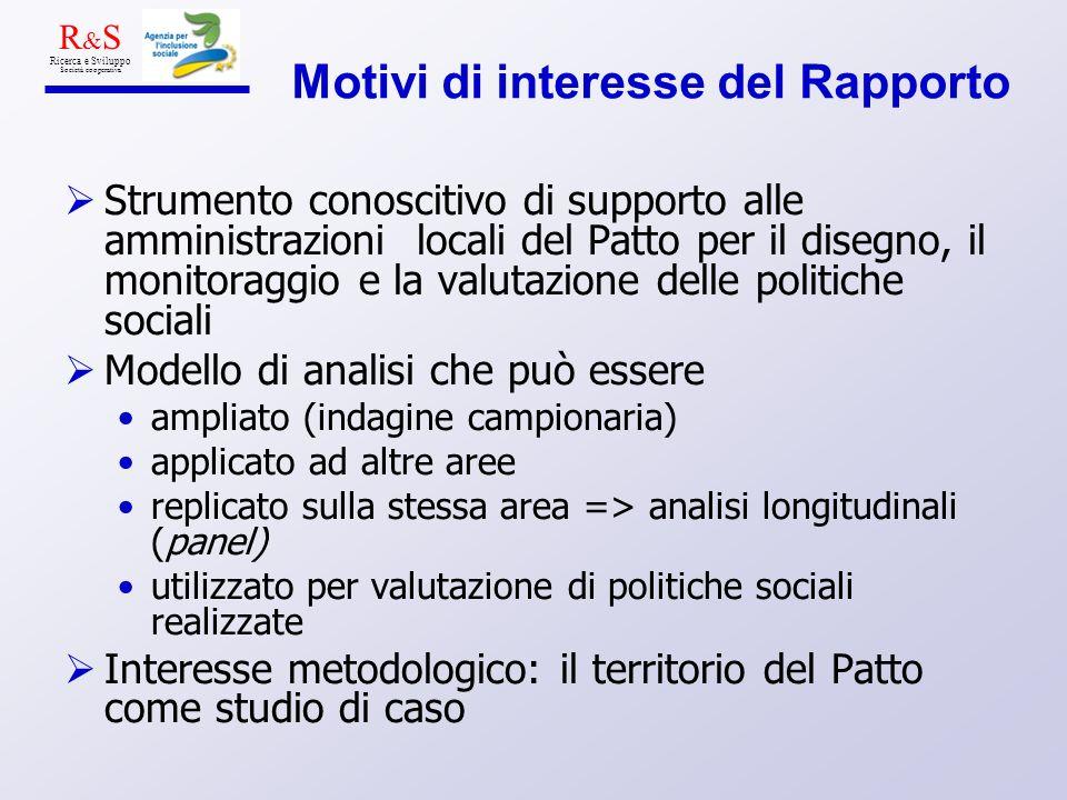 Motivi di interesse del Rapporto Strumento conoscitivo di supporto alle amministrazioni locali del Patto per il disegno, il monitoraggio e la valutazi