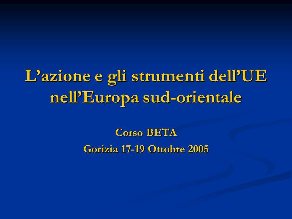 Lazione e gli strumenti dellUE nellEuropa sud-orientale Corso BETA Gorizia 17-19 Ottobre 2005