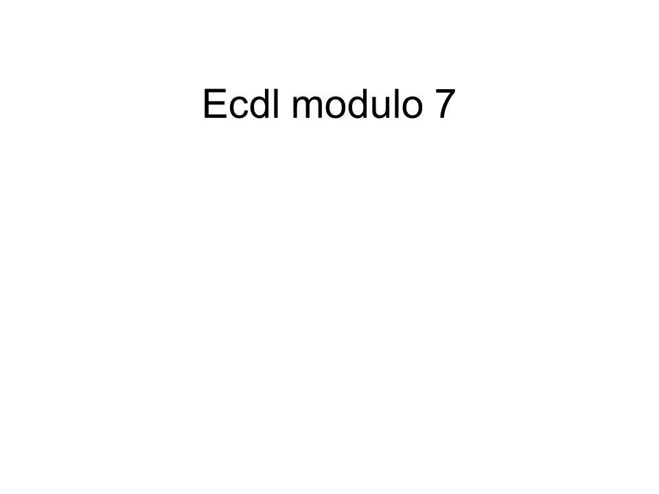 Ecdl modulo 7