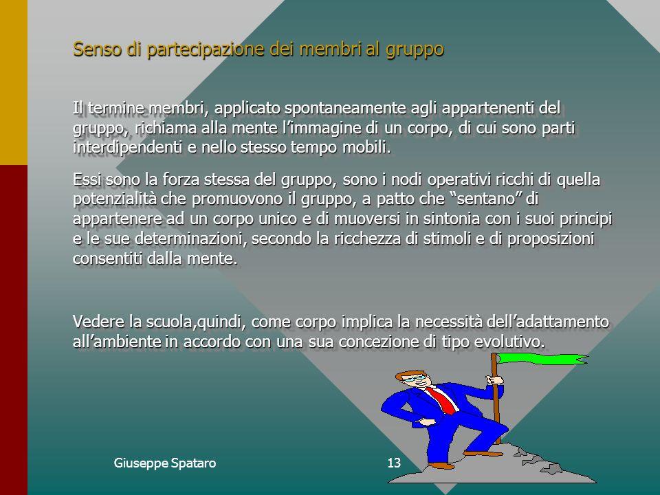 Giuseppe Spataro12 Reti e Modalità di Comunicazione Relativamente allefficienza vi sono due criteri alternativi : la produttività e la soddisfazione.