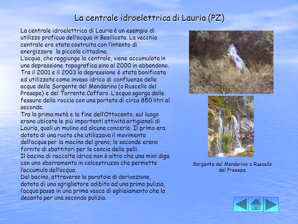 La centrale idroelettrica di Lauria (PZ)