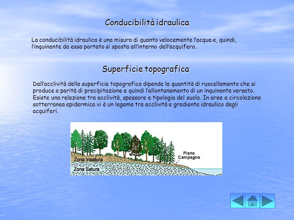 Tipologia della copertura I terreni di copertura svolgono importanti processi che costituiscono il potenziale di attenuazione di un suolo, ossia la capacità di difendere un acquifero dagli inquinanti.