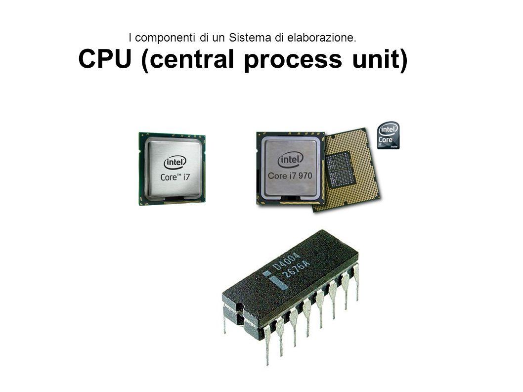 I componenti di un Sistema di elaborazione.CPU (central process unit) La C.P.U.