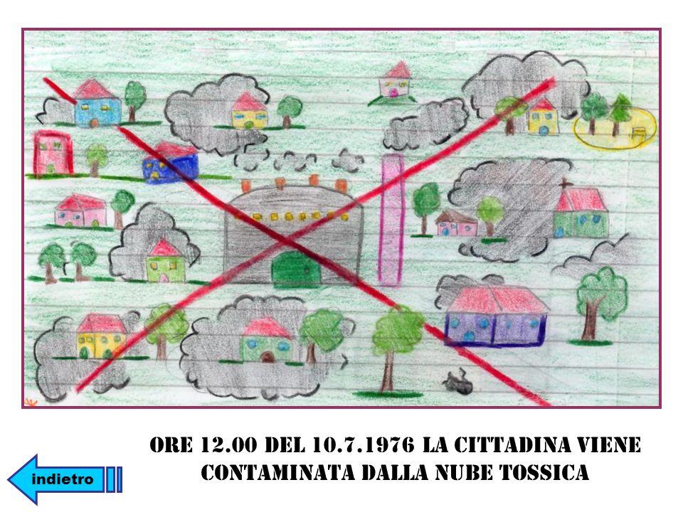 Ore 12.00 del 10.7.1976 la cittadina viene contaminata dalla nube tossica indietro