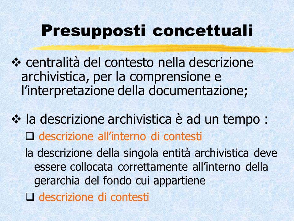 Problematicità del concetto di contesto tradizionalmente il contesto è stato inteso come la storia, la struttura, le competenze del soggetto produttore della documentazione; ma è solo questo o cè qualcosa di più.