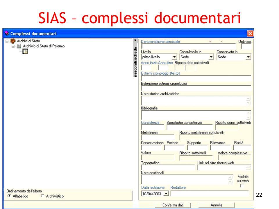 Pierluigi Feliciati - Padova 16032005 22 SIAS – complessi documentari