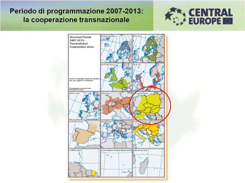 Periodo di programmazione 2007-2013: la cooperazione transnazionale