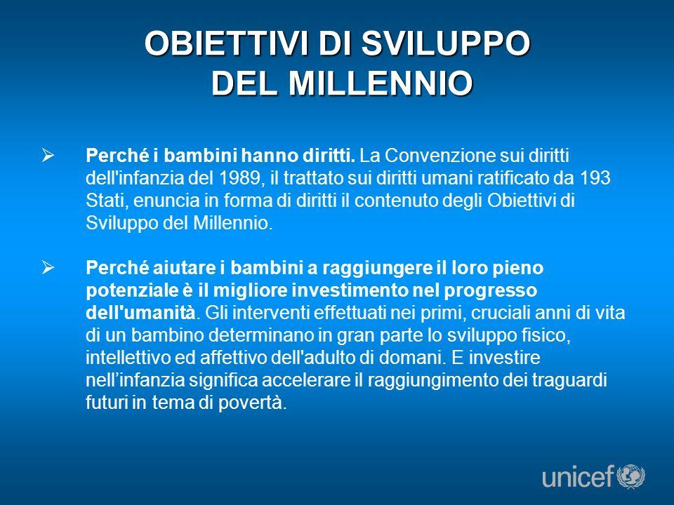 OBIETTIVO DI SVILUPPO DEL MILLENNIO N.