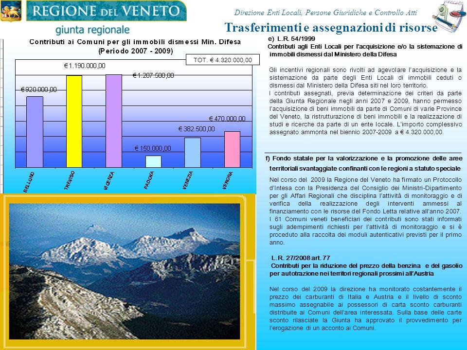 c) L.R. n. 30/2007 Interventi a favore dei Comuni delle aree svantaggiate di montagna Gli interventi sono rivolti a unarea di 171 Comuni montani delle