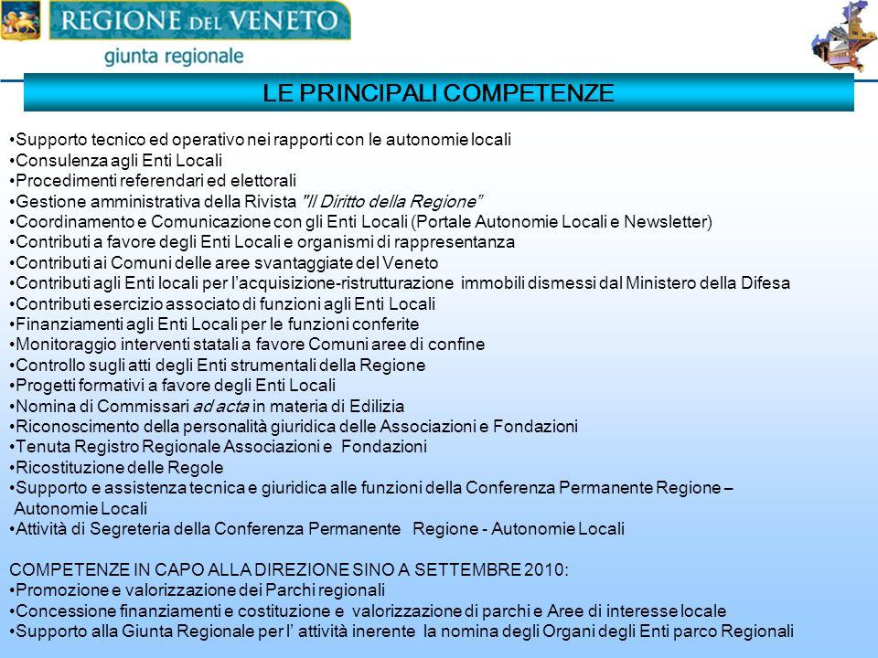 La missione Supporto alle azioni regionali di governance, partecipazione e sostegno alla costruzione di un sistema regionale veneto delle Autonomie Lo