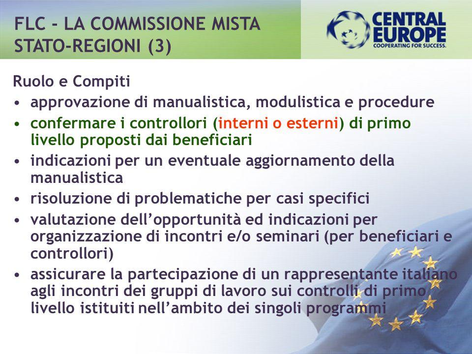 Ruolo e Compiti approvazione di manualistica, modulistica e procedure confermare i controllori (interni o esterni) di primo livello proposti dai benef