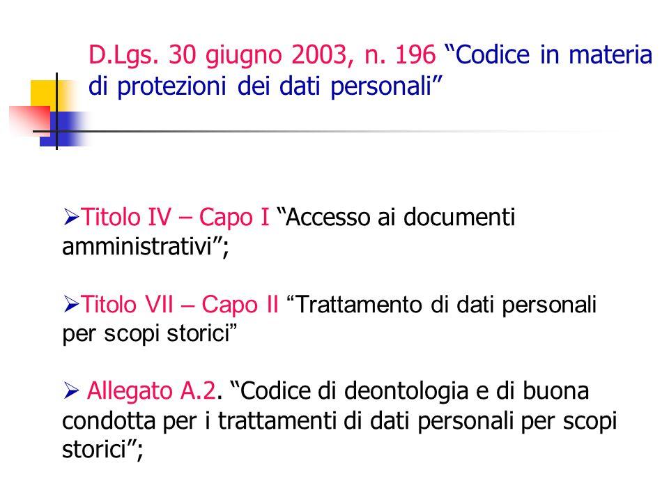 D.Lgs.30 giugno 2003, n.